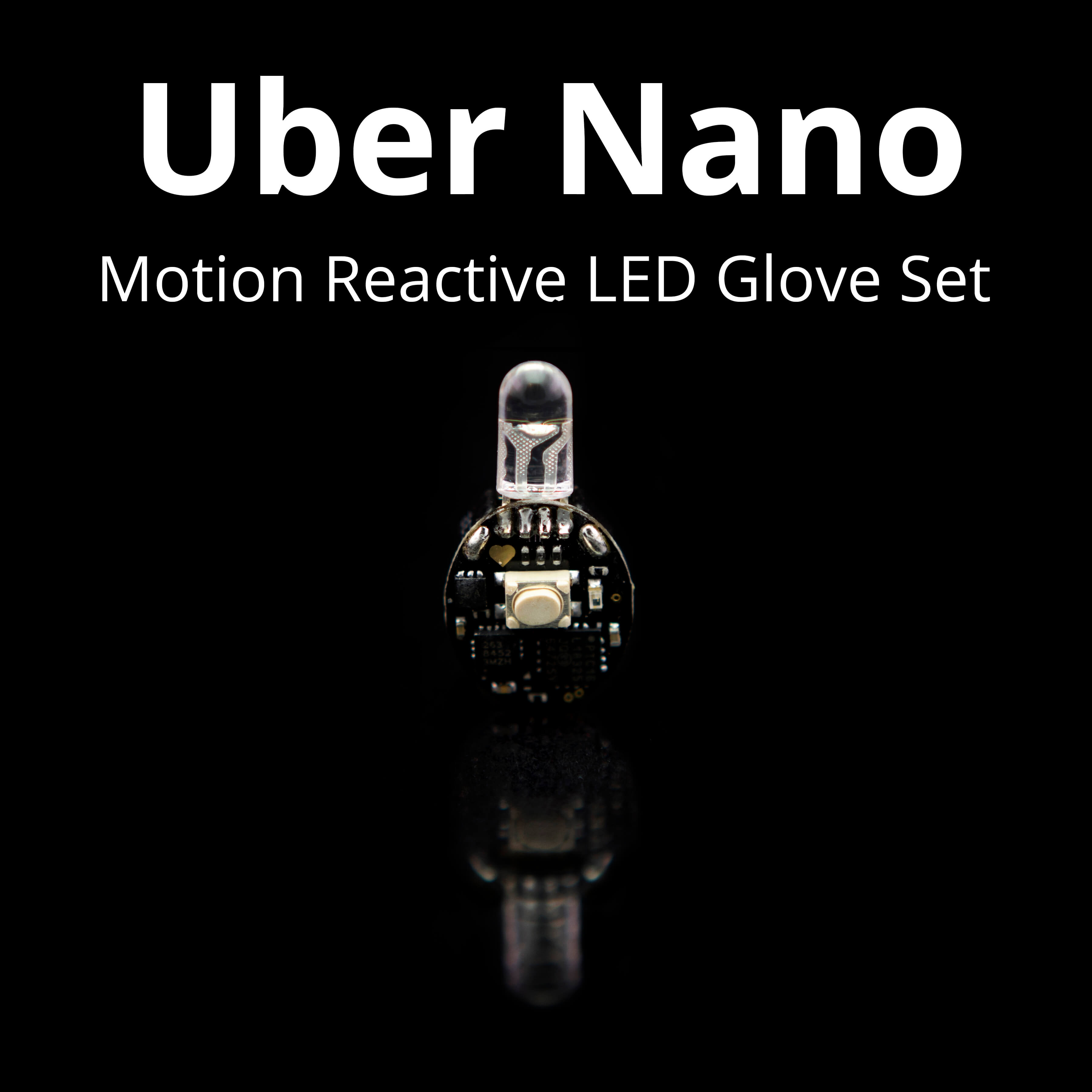 Uber Nano Motion Reactive LED Glove Set